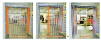Save-T® Accordion Strip Doors Opening Options